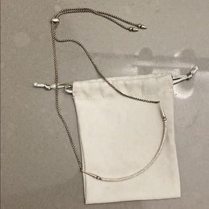 Kendra Scott antique silver Scottie necklace
